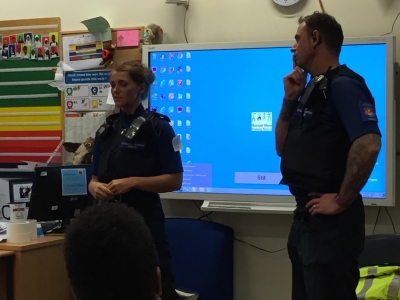 Visit from our local PCSOs