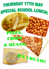 Thursday 17th May - Special School Lunch!