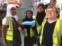 Here is one of our rocket cars!