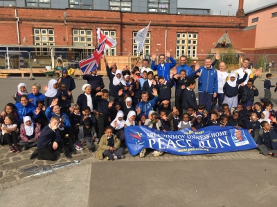 Dove on the Sri Chinmoy Peace Run