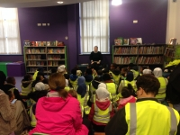 Year 1 and Year 5 visit Junction 3 Library together