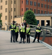 The 'More Hannah More' Team Visit Millennium Square